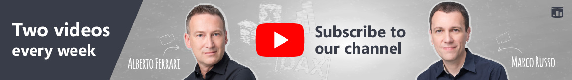 Subscribe to SQLBI YouTube channel